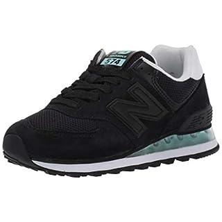New Balance Women's 574 V2 Sneaker, Black/Light Reef, 5 W US