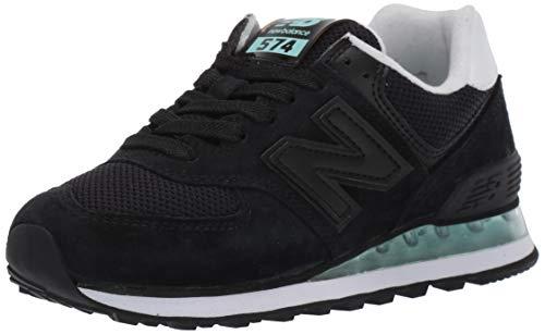 New Balance Women's Iconic 574 V2 Sneaker, Black/Light Reef, 8.5 B US