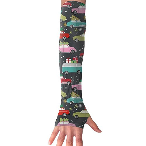 Price comparison product image Huadduo Christmas Cars Womens Anti-uv Sun Protection Cooling Arm Sun Sports Sleeves Gloves