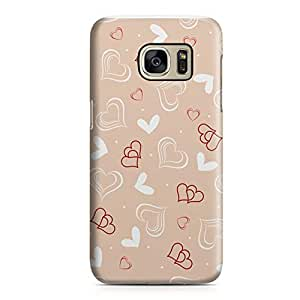 Samsung S7 Case Heart Love Pattern Pattern Great For Girls Durable Metal Inforced Light Weight Samsung S7 Cover Wrap Around 111