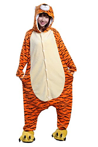 Japsom Unisex-adult Hooded Tiger Halloween Party Fancy Dress Costume XL]()