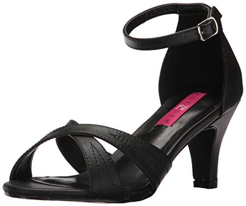 Pleaser Pink Label Women Div435/Bpu Dress Sandal Black Faux Leather