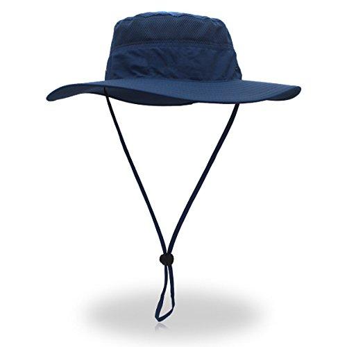 belababy Outdoor Sun Hat Quick-Dry Breathable Mesh Hat Camping Cap Dark Blue ()
