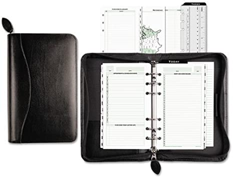 "1/"" Binder Capacity Day-Timer Bonded Leather Starter Organizer 3 3//4/"" x 6"