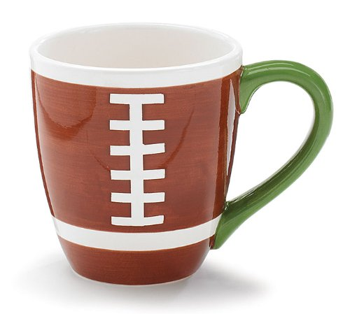 Ceramic Coffee Mug Football 14 Ounces
