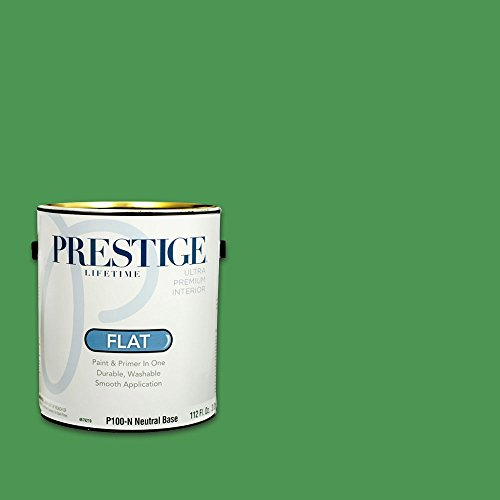 Prestige, Greens and Aquas 3 of 9, Interior Paint and Primer In One, 1-Gallon, Flat, Celtic Green
