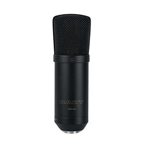 Nady SCM-800 Large Diaphragm Condenser Microphone - Studio quality, great for vocals, acoustic instruments, recording, podcasting, and more! (Large Diaphragm Cardioid Condenser Microphone)