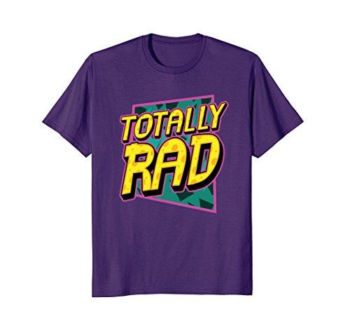Mens Totally Rad 1980s Retro Graphic Eighties 80s