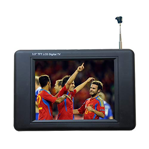 "Chaowei DTV530 Portable ATSC Digital TV with 3.5"" TFT LCD and Magnetic Base Antenna - Black"