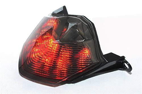 HTTMT P//N: MT199-SK For Kawasaki 2007-2012 Z750 2007-2008 Z1000 2008-2010 ZX-10R ZX1000 2009-2012 ZX-6R ZX600 Motorcycle Smoke Led Tail Light Brake Light with Integrated Turn Signals Indicators