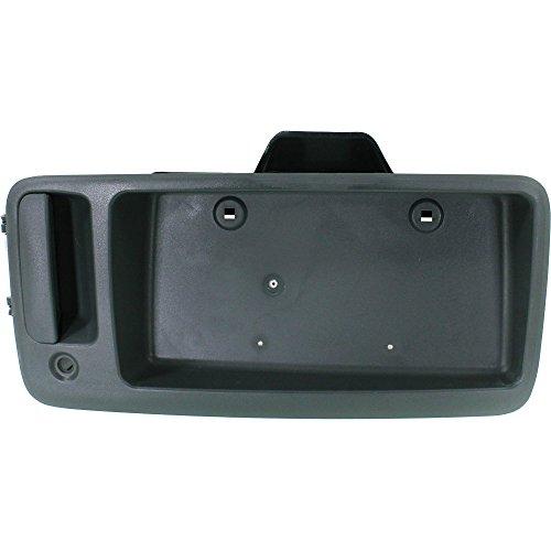 (Exterior Door Handle for EXPRESS/SAVANA VAN 96-02 Rear Outside Back Door Textured Black w/License Bracket)