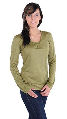 Shirt 1/1 Arm Anabell Schiesser Revival grün
