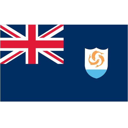 Online Stores Anguilla Flag 3ft x 5ft Printed -