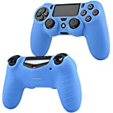 Insten PS4 Controller Silicone Skin Case Compatible With Sony PlayStation 4, Blue