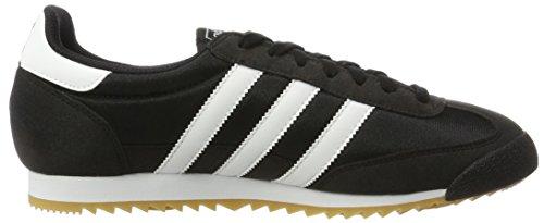 adidas Dragon Og, Zapatos para Correr para Hombre Negro (Core Black/ftwr White/gum)