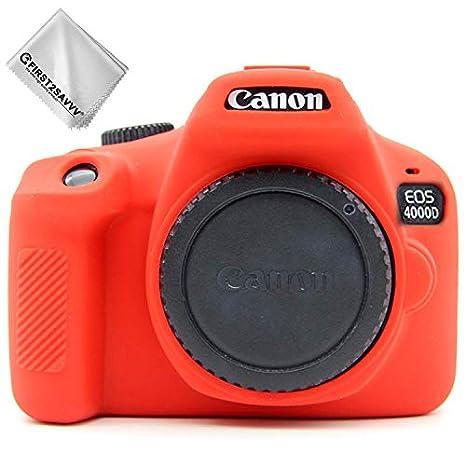 Funda de Goma para cámara Canon EOS 4000D Rebel T100 3000D: Amazon ...