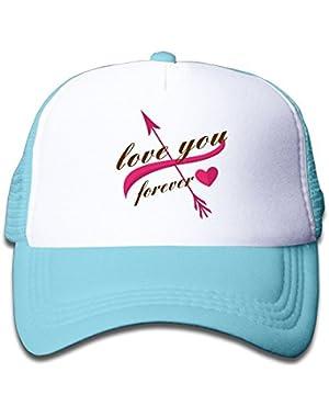 Love You Forever Kids Baseball Cap Infant Trucker Hat