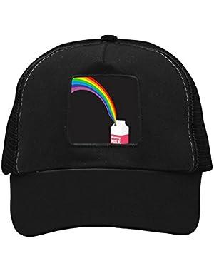 Unisex Milk Rainbow Adjustable Classic Hiphop Hat Baseball Cap Snapback Dad Hat