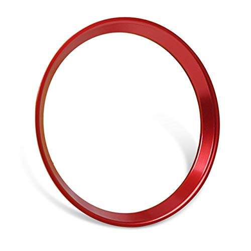 (SalaBox-Accessories - Car Styling Aluminum Steering Wheel Badge Ring Decorative Trim Cover for Mercedes Benz C-Class C180L C260 W205 2015)