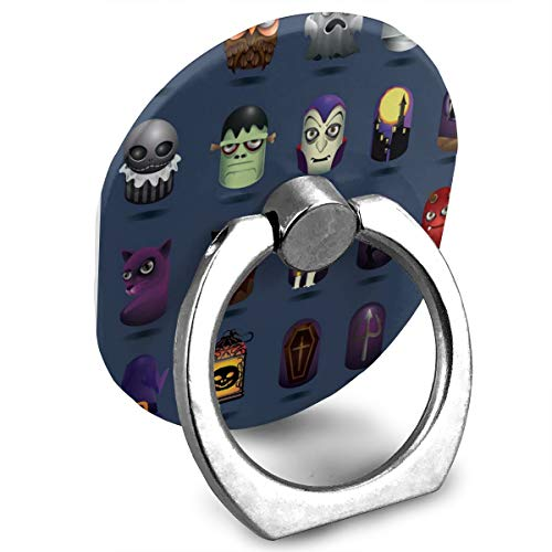 Phone Stand Halloween Icons Set Ring Mobile Phone Holder Adjustable 360° Rotation Finger Ring Stand for Ipad,Kindle,Phone X/6/6S/7/8/8 Plus/7,Galaxy S9/S9 Plus/S8/S7,Android Smartphone,Divi,Accessori]()