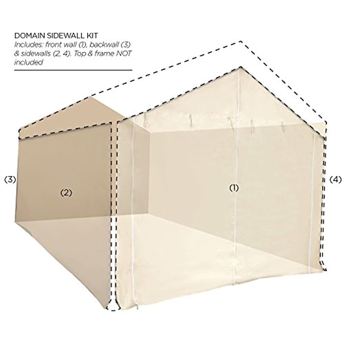 Canopy Garage Side Wall 10 x 20 ft Car Shelter Parking ...