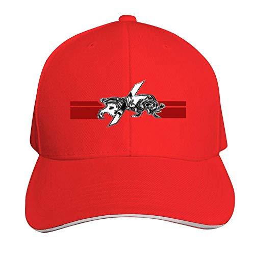 GGLDAN RT Dodge Logo Adjustable Baseball Caps Vintage Sandwich Hat Sandwich Cap Peaked Trucker Dad Hats Red