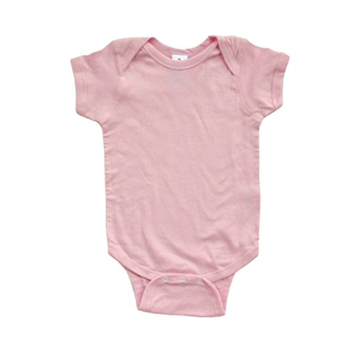 Apericots Super Soft Cotton Blank Plain Comfy Baby Short Sleeve Bodysuit