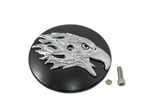 V-Twin 34-1432 - Round Eagle Air Cleaner Cover Insert ()