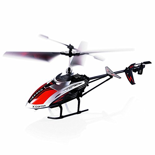 e Controlled Helicopter Indoor Outdoor Gyro LED Light, 3.5 Channel Durable Ready to Fly RC Airplane Model Best Birthday Toy Gift Kids, Boys & Girls Even Adults ()