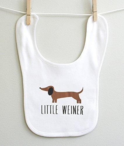 Little Weiner Dachshund Boy Girl Infant Baby Burp Bib 2 Ply 100% Cotton