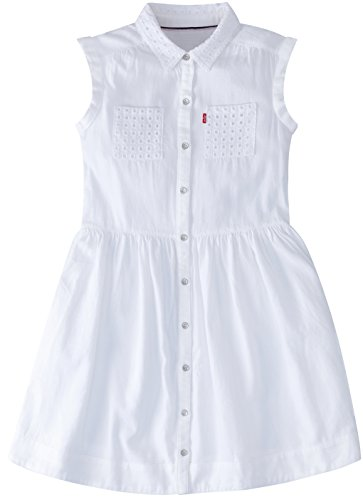 Levi's Big Girls Sleeveless Dress, White, L ()