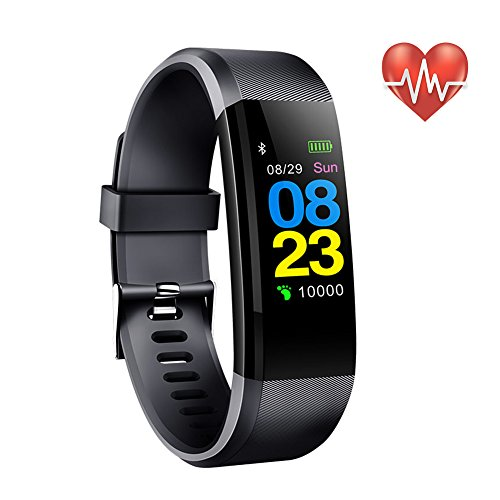 Fitness Tracker Smart Wristband Bluetooth Waterproof with Blood pressure Heart Rate Smart Watch Sleep Pedometer Camera remote shoot Blood Oxygen Monitor Which is for Andriod IOS Xiaomi Huawei Phone