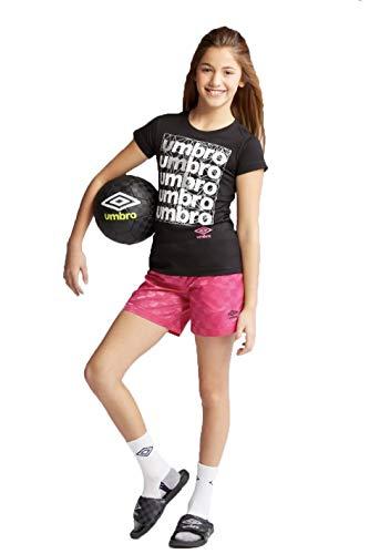 Umbro Girls' Printed Jersey T-Shirt - (Black, M -