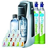 Sodastream Fountain Jet Soda Maker Starter Kit + Extra SodaStream 60-Liter Carbonator-Spare Cylinder