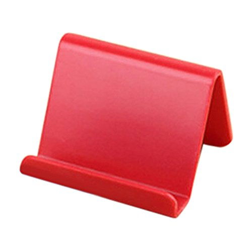 Nivalkid Mobile Phone Holder Candy Mini Portable Fixed Holder Home Supplies Mobile Phone Remote Control Fixing Bracket Women's Fashion Housekeeping & Organizers (Red) ()