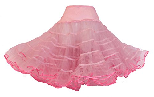 Hip Hop 50s Shop Womens Vintage Rockabilly Tutu Petticoat 3X/4X Pink by Hip Hop 50s Shop