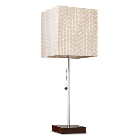 Threshold™ Square Stick Lamp with Chevron Shade - Off White