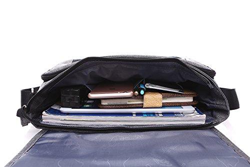 Herren Umhängetasche, itPlus Umhängetasche Herren Schultertasche Umhängetasche Tasche Unisex Umhängetasche handelt für 12'�?Laptop Daypack Notebook, MacBook, Tablet / iPad/ Arbeit Uni Reise Sport,Herr