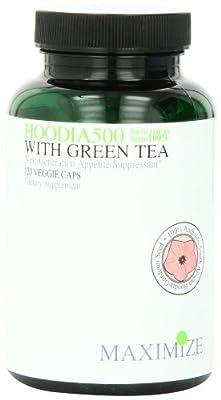 Maximum Intenational Hoodia 500 with Green Tea, Veggie Caps, 120-Count Bottle