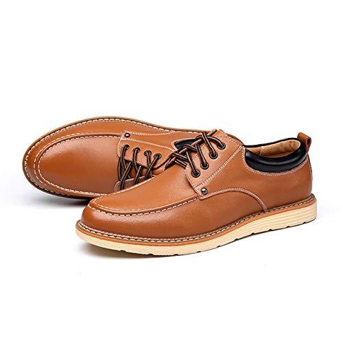 Oficina Bajas Cuero A Confortable De Souy Hombres Barca Los Oxford Deporte Trabajo Zapatos Zapato Cena Cordones Casuales Negocios Con Nuevos Negro Zapatillas qxUvnxwp