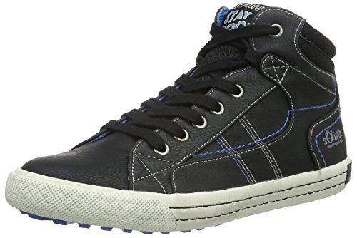 s.Oliver Jungen 45100 Hohe Sneakers, Schwarz (Black 1), 39 EU