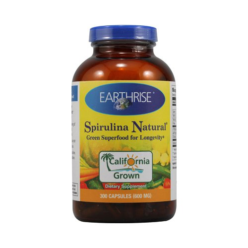 2 Packs of Earthrise Spirulina Natural - 600 Mg - 300 Capsules by Earthrise