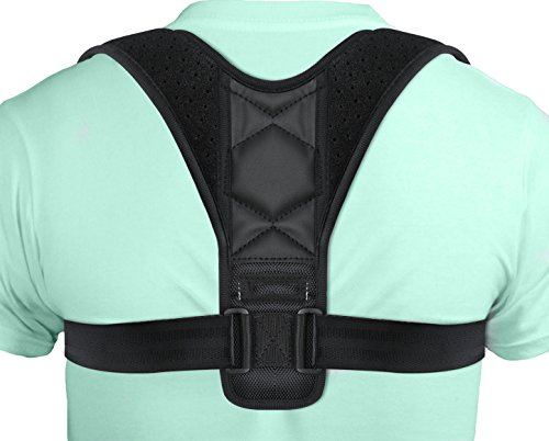 Back Posture Corrector, Hersvin Shoulder Back Straightener Brace Trainer Clavicle Chest Support to Improve Slouching and Hunching, Postural Problems, Relieve Neck Pain for Women Men Teenagers Adults by Hersvin