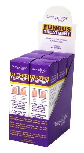 Omega Labs Fungus Treatment for Finger & Toe Nails 15ml/0.5oz - 6pack by Omega Labs