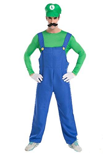 イチゴガール キャラクター サスペンダー ゲーム メンズ用 男の子 4 緑