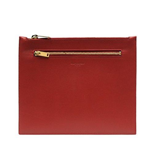 Saint Laurent Classic Leather Document Holder 315872, Lipstick Red by Saint Laurent