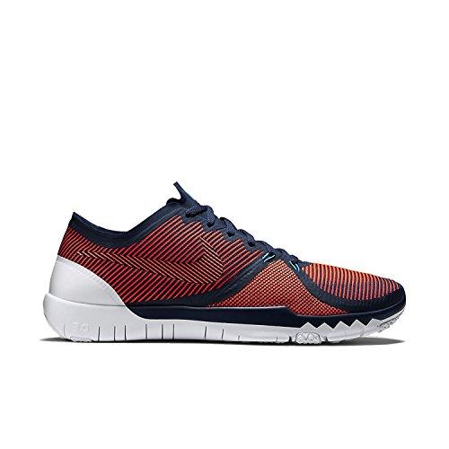 Nike Free Trainer 3.0 V4 Mens (13 D(M) US, Azul marino medianoche, hiperanaranjado, 47.5 D(M) EU/12.5 D(M) UK
