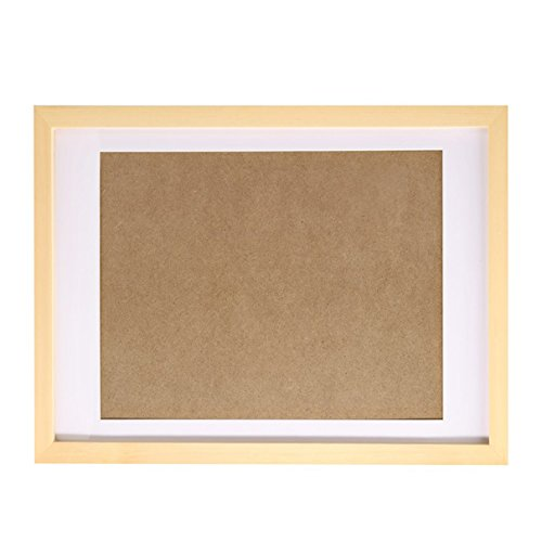 - Fastnova 14x18 inch Real Solid Wood Picture Photo Poster Print Art Frame Made to Display Picture 10x15 with Mat or 14x18 Without Mat, Wall Mounting Material Included
