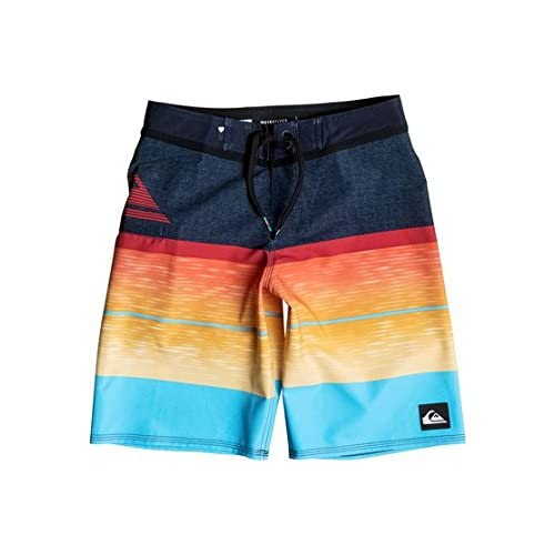 hot sell Quiksilver Boys Slab Logo Vee Youth 18 Red 25 save more