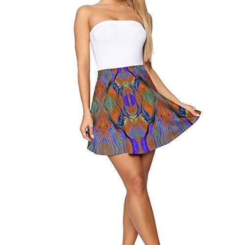 Nkjsiss Lava LAMP Purple Orange Burnt Short Skirt